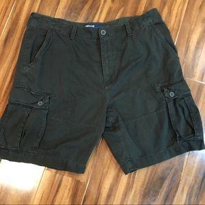 American Eagle Men's Olive Green Cargo Shorts
